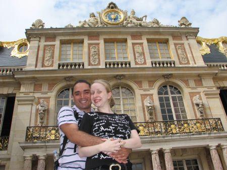 No Palácio de Versailles