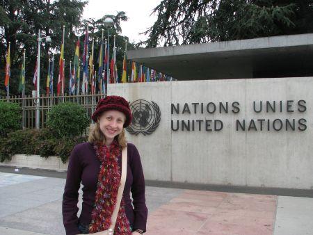 Na frente da ONU