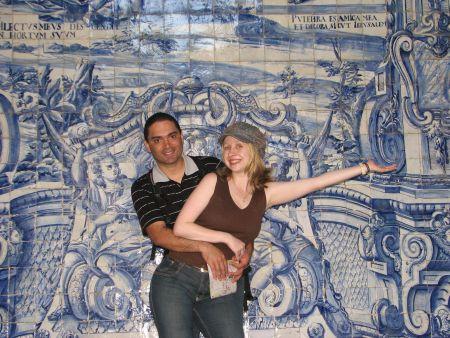 Nós e os famosoa azulejos de Portugal :-)