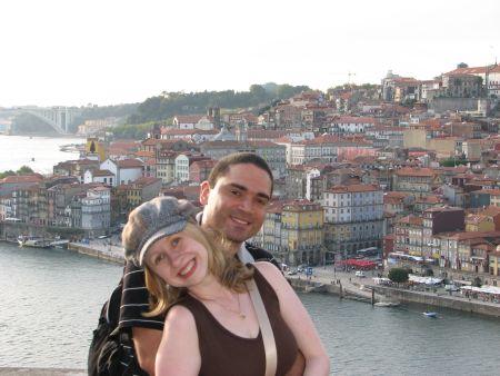 Foto feita em Gaia com a vista do Porto