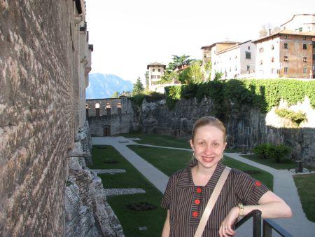 Eu no Castello del Buonconsiglio