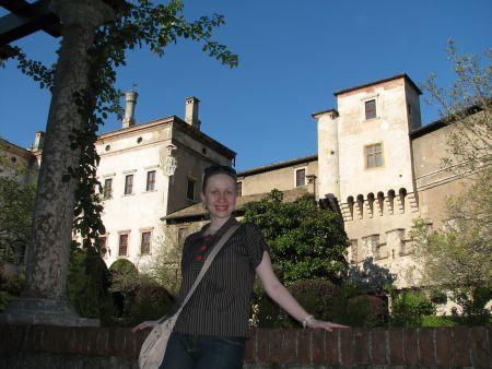 Ainda no castelo em Trento. Lindo!