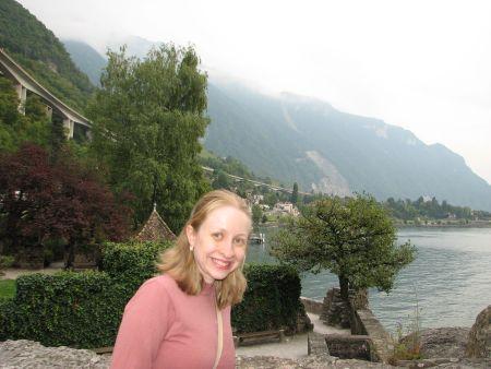 Parte da vista do castelo e de Montreux