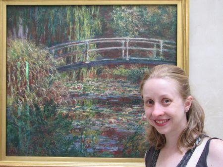No Museu D'Orsay, eu e Monet!