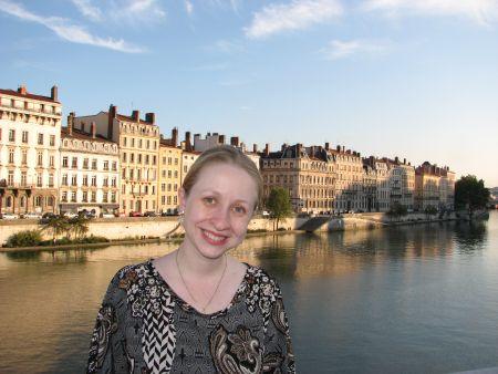 Sobre a ponte Bonaparte, a vista do rio Saône em Lyon