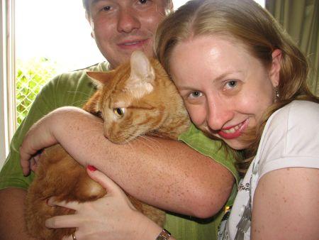 Flá, eu e seu gato Tommy